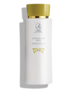 LAPTE DEMACHIANT HRANITOR CU EFECT CALMANT PE BAZA DE ULEI DE MASLINE SI VITAMINA E NOURISHING OLIVE OIL MILK FOR SENSITIVE AND DRY SKIN 120ML