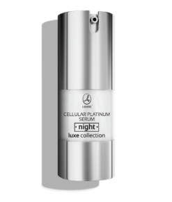 SER FACIAL DE NOAPTE ANTI AGING PE BAZA DE MICROPARTICULE DE PLATINA, VIT B3 SI ULEI DE MACADAMIA CELLULAR PLATINUM NIGHT SERUM LUXE COLLECTION 20ML